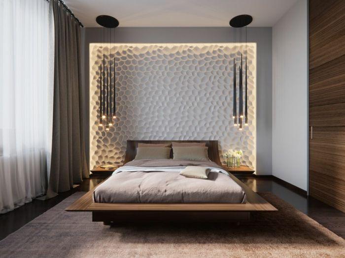 ▷ 1001 + Ideen für Schlafzimmer modern gestalten - schlafzimmer wand ideen