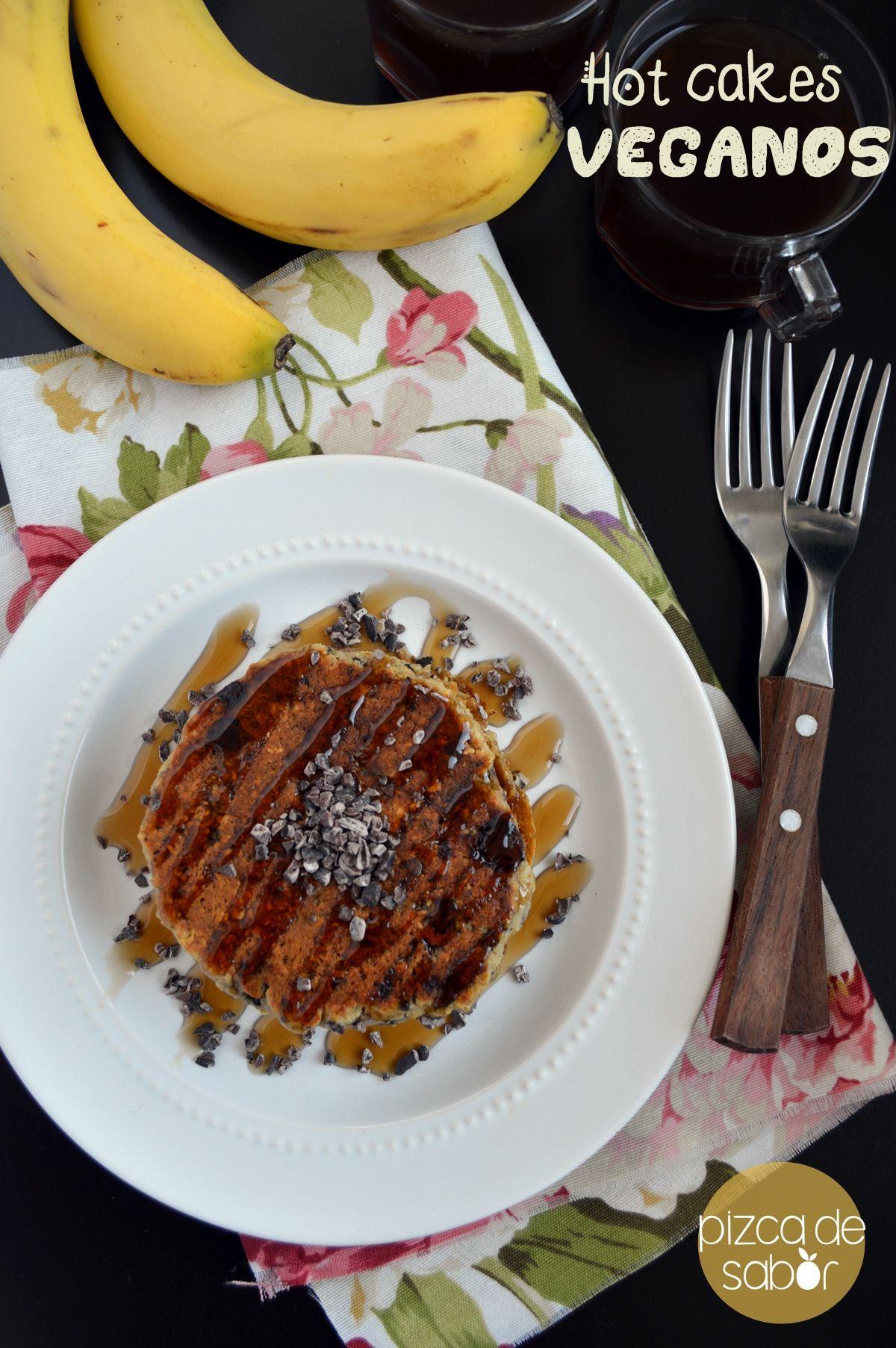 Hot cakes o panquecas veganas y sin gluten www.pizcadesabor.com