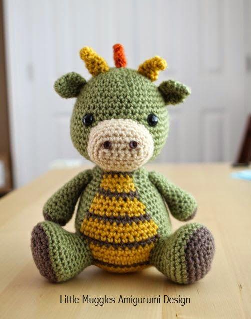 Crochet Dragon (Crochet For Free)   Amigurumi häkeln, Häkeln und ...