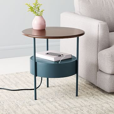 Isla Charging Side Table In 2020 Side Table Modern Side Table