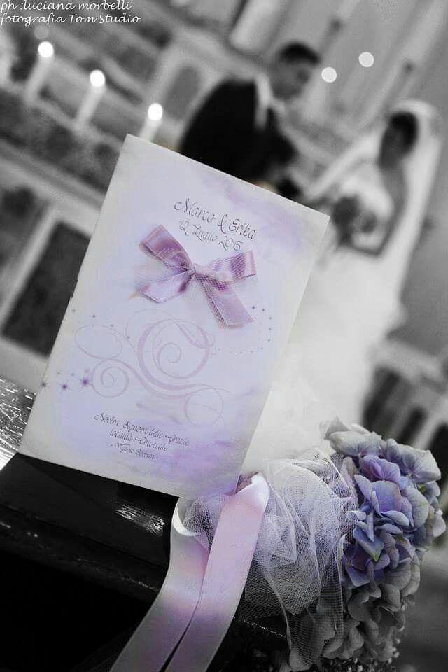 Matrimonio Tema Lilla : Matrimonio lilla e bianco libretto messa a tema favola