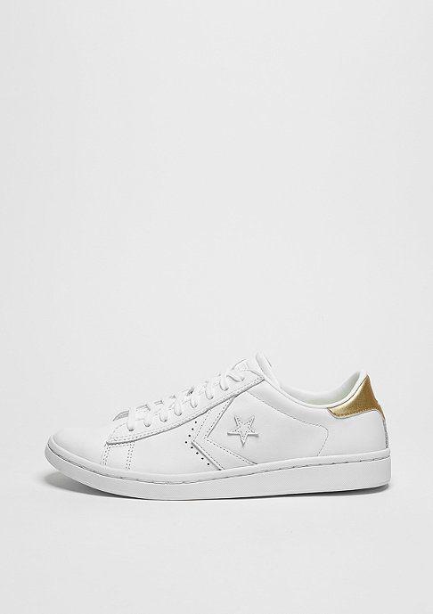 34c909e47 Converse Schuh PL LP Ox white/light gold/white | Weiße Sneaker ...