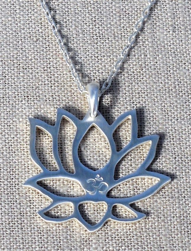 Lotus Om Necklace....pretty and simple.