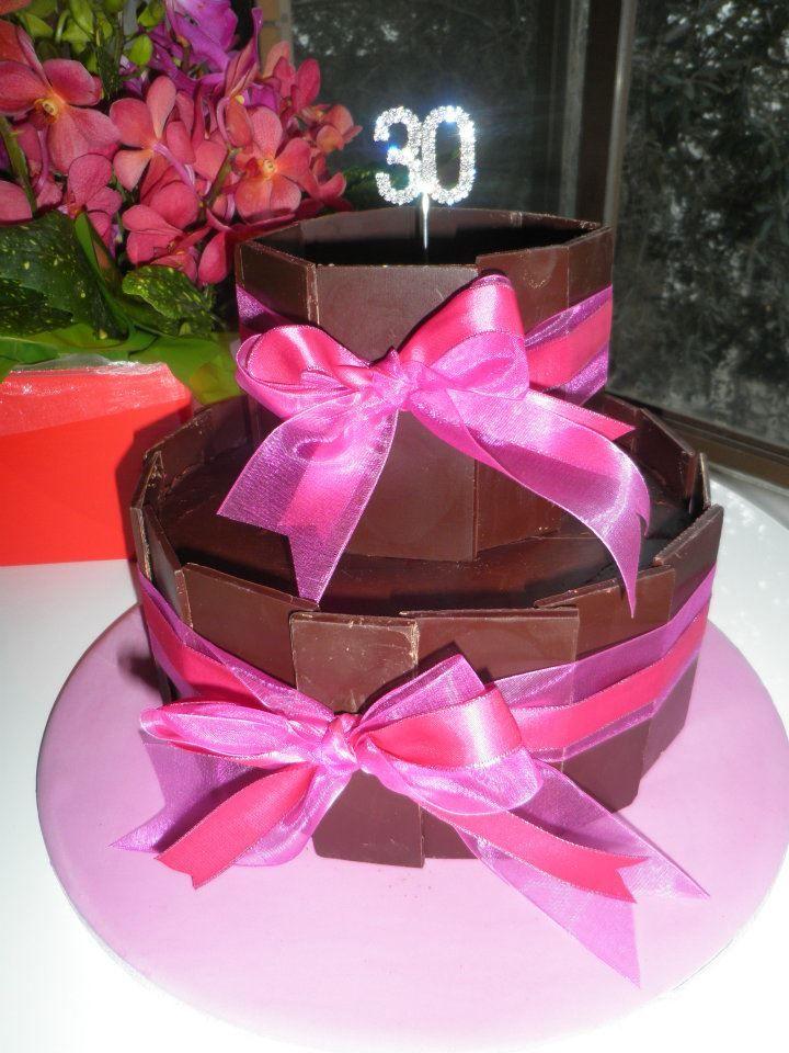 30th birthday chocolate panel cake 30 cake birthday
