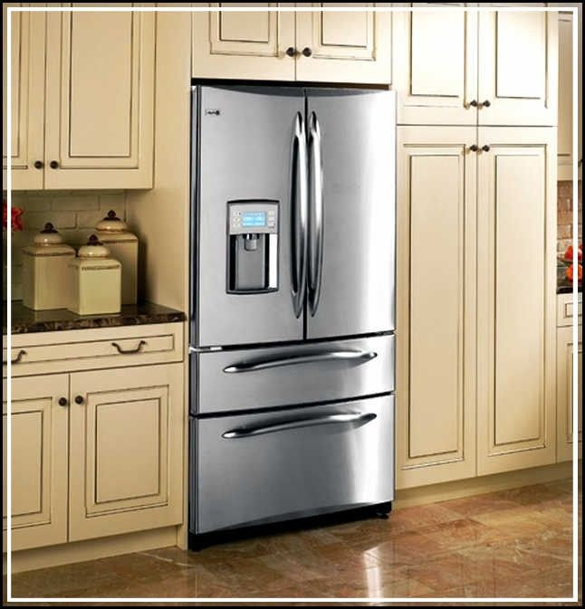 Counter Depth Refrigerator Vs Standard Depth Refrigerator From Kitchen Cabinets Depth Cabinet Depth Refrigerator Kitchen Refrigerator Refrigerator Cabinet