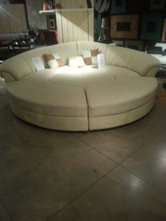 Big Round Couch Different Sections Come Apart Too Differ Take On Old Round Theater Couches