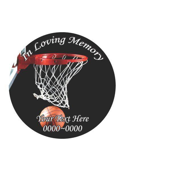 Basketball In Loving Memory Full Color Circles Custom Vinyl - Custom vinyl wall decals circles