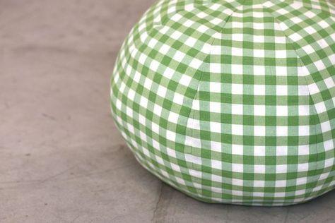 Tuto : réaliser un joli pouf en tissu