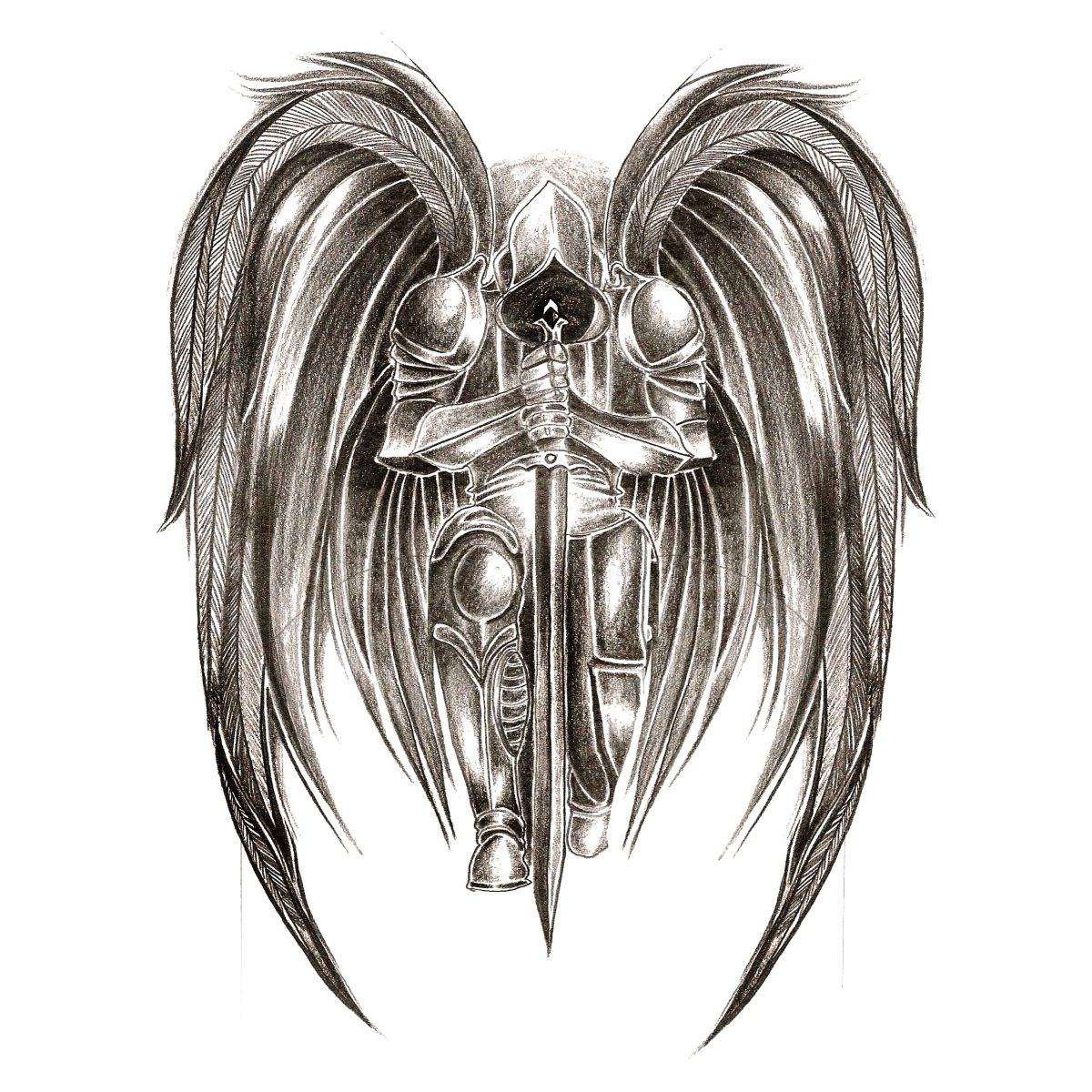 Pin by b lent atak on tattoo in 2018 pinterest tattoos for Badass angel tattoos