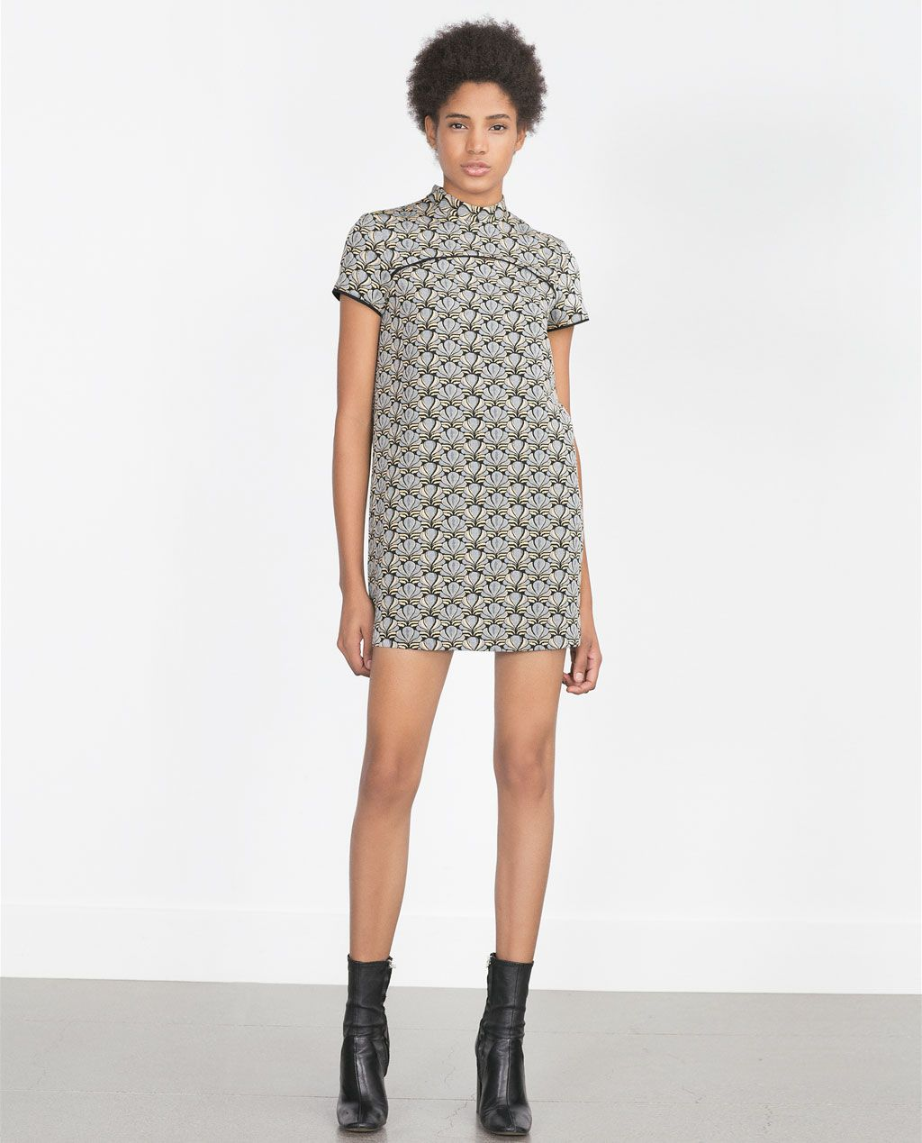 dab6b29e6ce8 Image 1 of JACQUARD DRESS from Zara | H. | Dresses, Jacquard dress ...