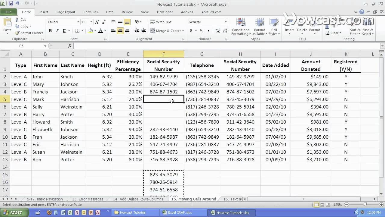 How To Move A Cell Around  Microsoft Excel  Always Learnin