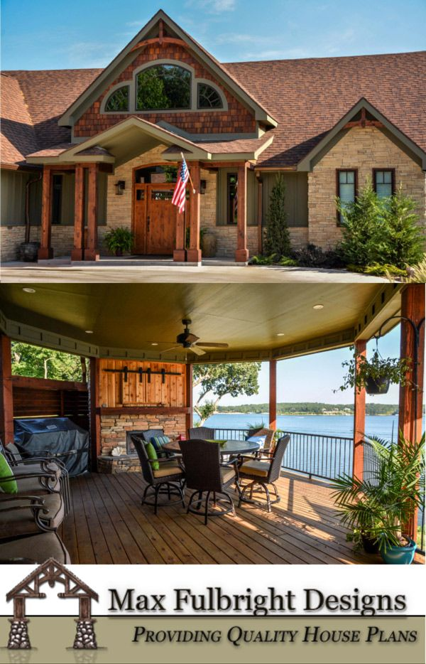 Rustic Lake House Plan - River's Reach