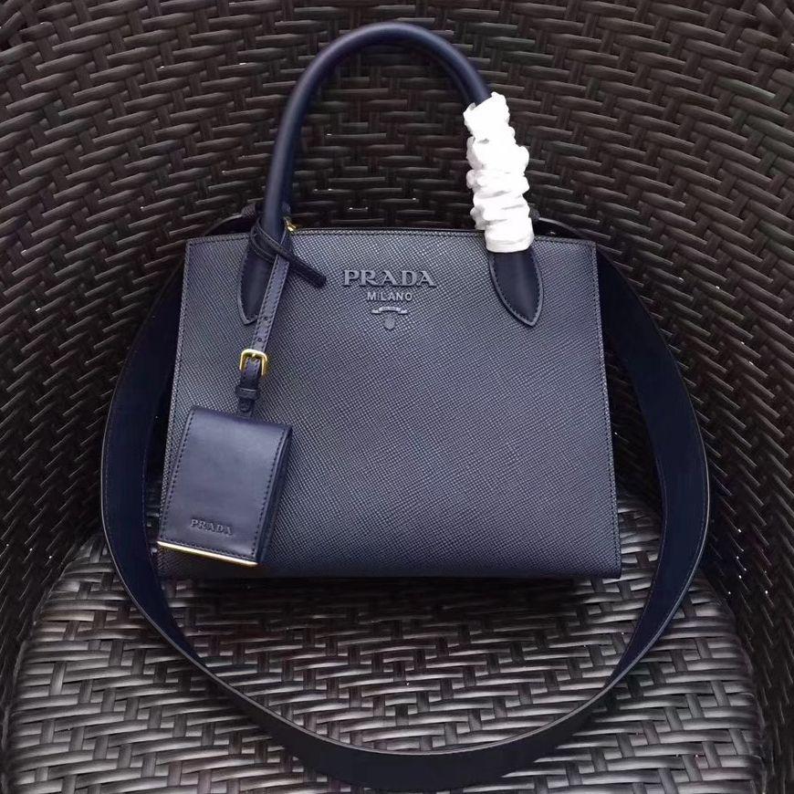 cd955fc246cc Prada Monochrome Saffiano Leather Bag 1BA156 Deep Blue 2018 | Prada ...