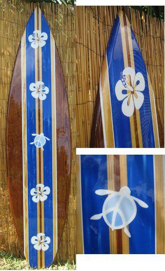 TIKI SOUL DECORATIVE SURFBOARD SURF ART - Ocean Peace  Surfboard decor, beach decor, surfer, decorative surfboard wall art