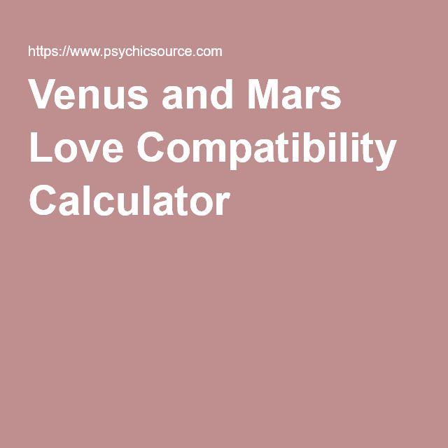 Venus And Mars Love Compatibility Calculator Birth Chart