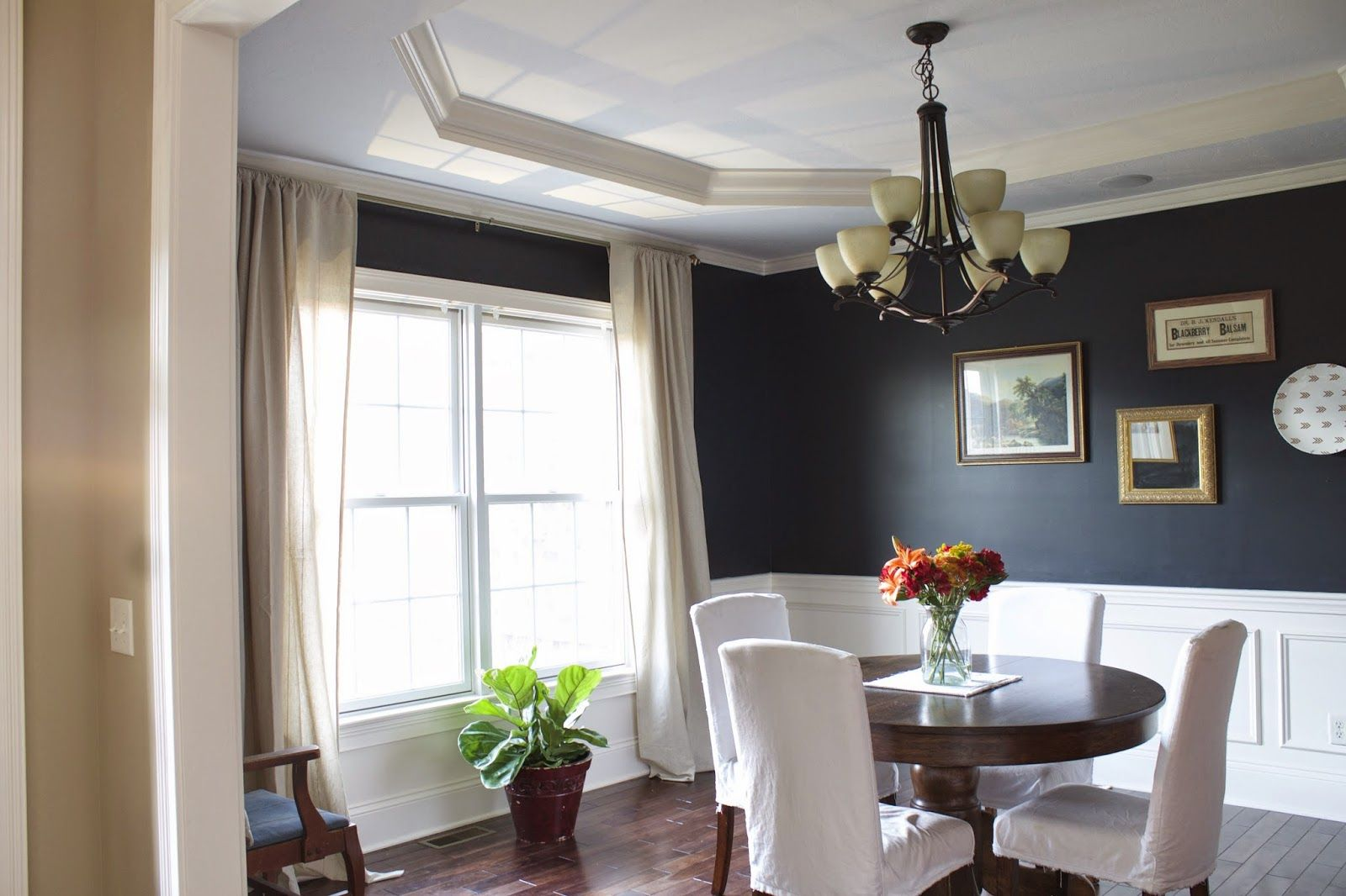 Paint Color Inkwell Sherwin Williams Dining Room