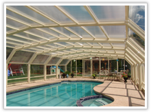 Retractable Pool Enclosures Manufactured By Roll A Coveramerica S Leading Custom Manufacturer Of Ret Indoor Outdoor Pool Pool Enclosures Retractable Pool Cover