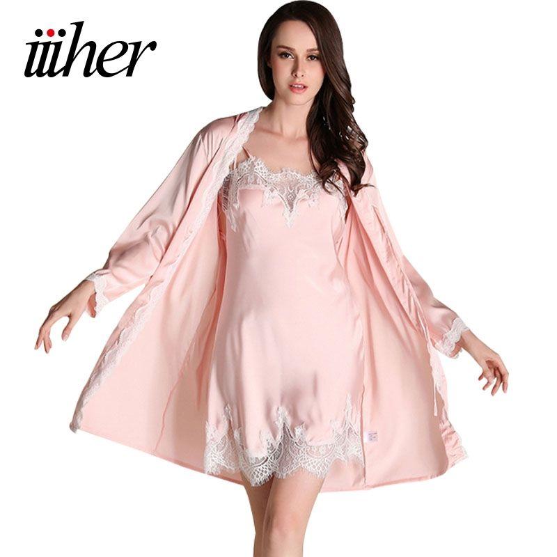 Iiiher Brautjungfer Robes Kleid Sets Sexy Spitze Robe frauen Nachtwäsche Schlaf Anzüge Pyjama Sets Frauen Nachtwäsche Nacht Röcke