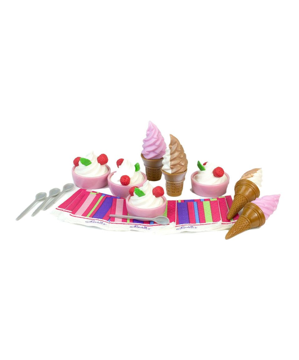 Ice Cream//Yogurt 20Pc Set Fits 18 inch American Girl Dolls