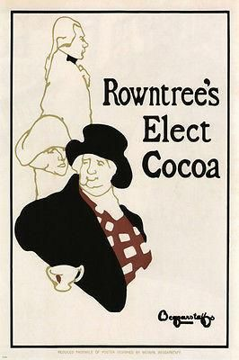 Beggarstaffs Brothers chocolate drink Vintage ad poster United Kingdom 24x36