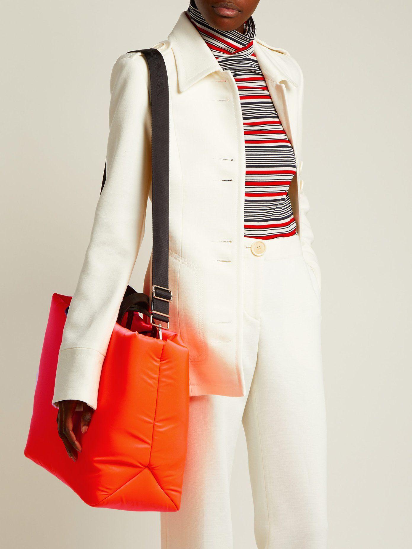 b4302d3fe8 Logo-embellished padded-nylon tote bag | fash / | Nylon tote bags ...