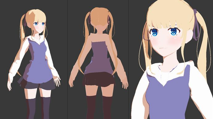 Blender Texturing And Rendering Anime Characters Tutorial With