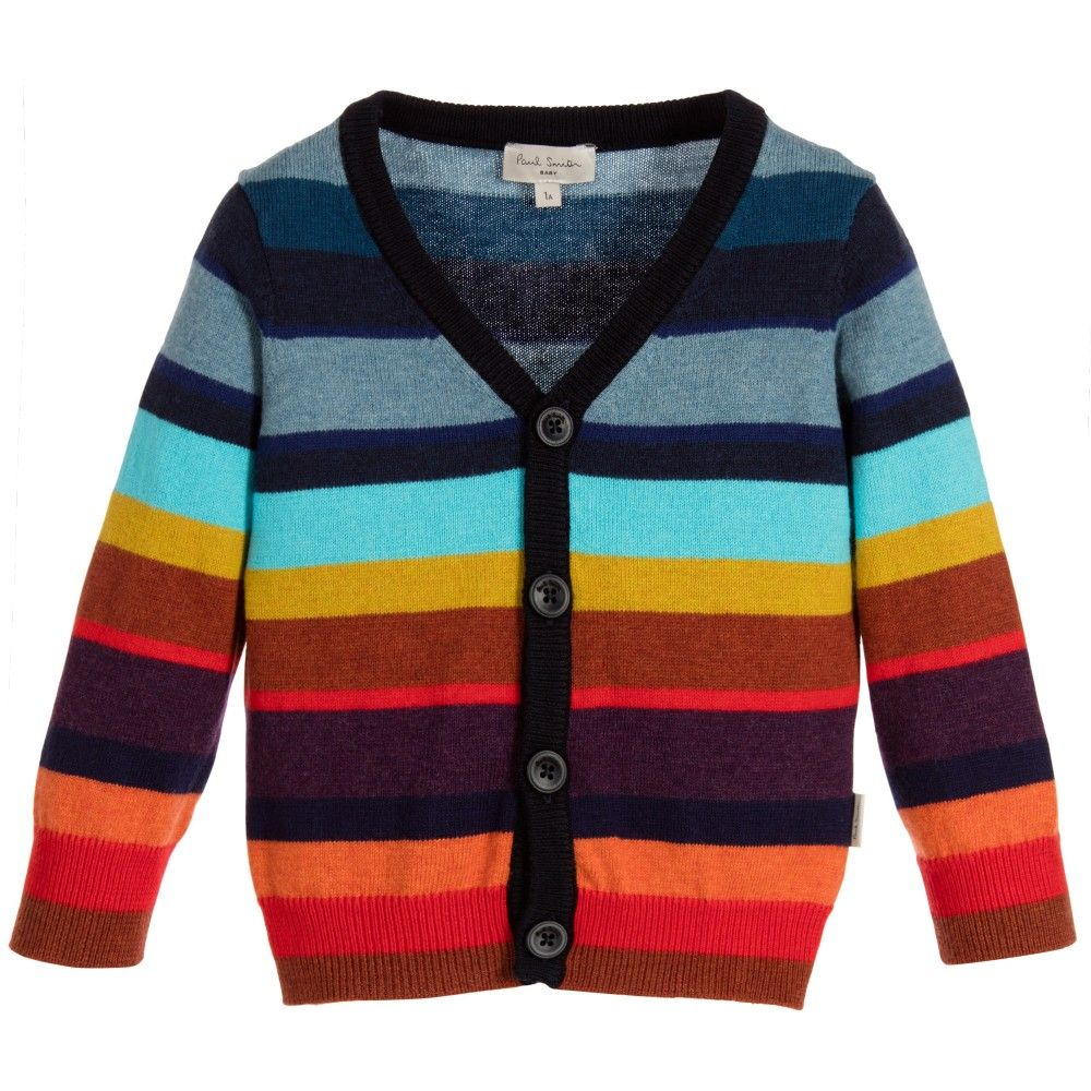 Paul Smith Junior - Boys Colourful Cashmere Cardigan ...