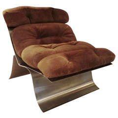 Francois Monnet 1970's Lounge Chair