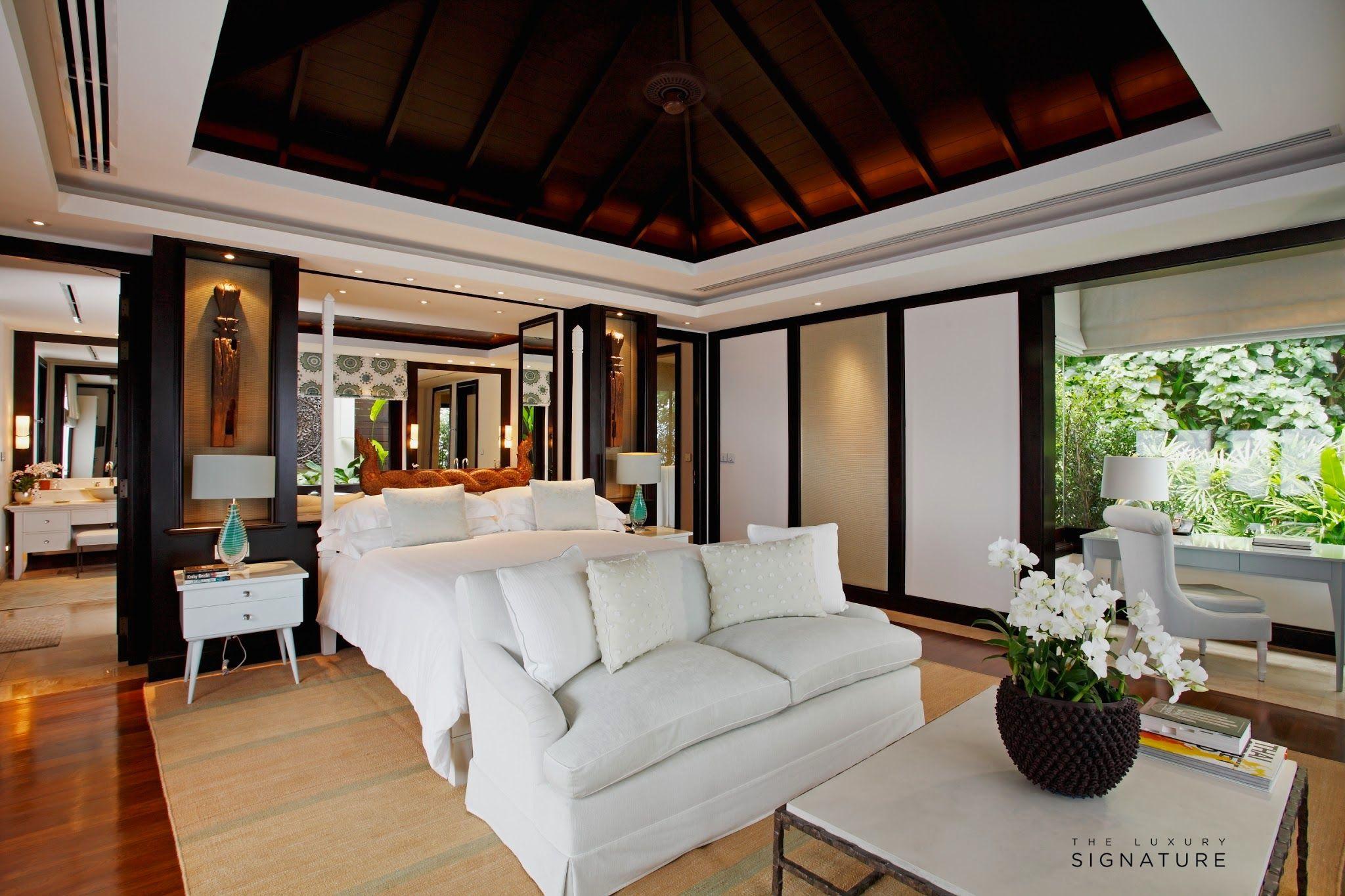 Luxurious Bedrooms, Luxury Bedrooms, Villa Phuket, Luxury Villa, Fancy Bedroom,