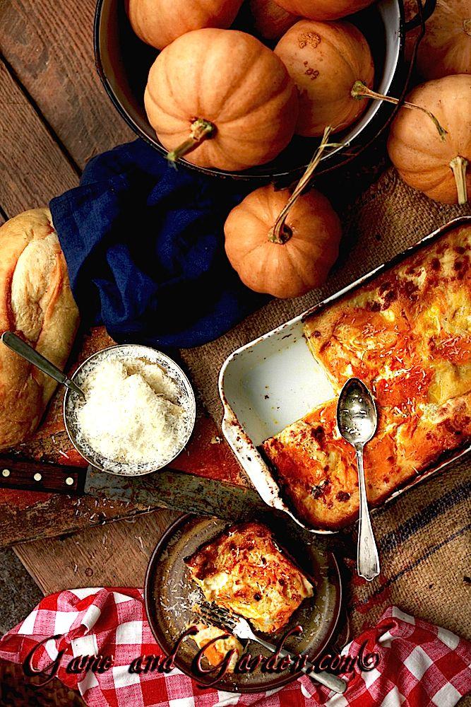 Pumpkin Lasagna With Sage White Sauce Pumpkin Lasagna Pumpkin Pumkin Recipes