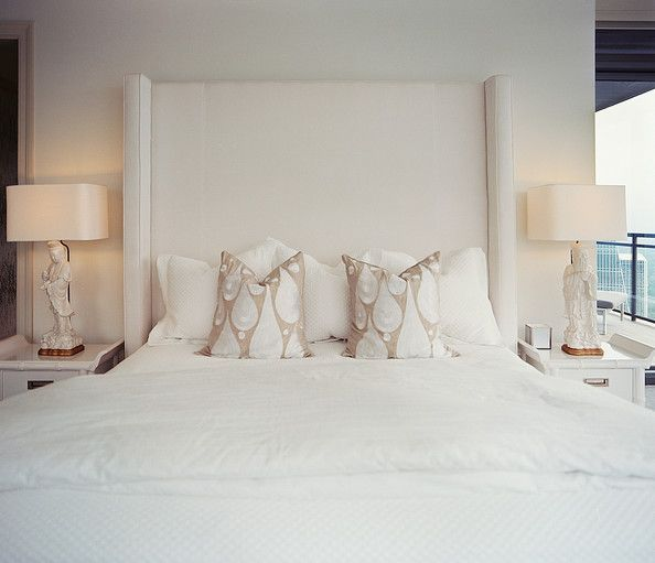 White Bedroom Photos White Upholstered Headboard Home Contemporary Bedroom