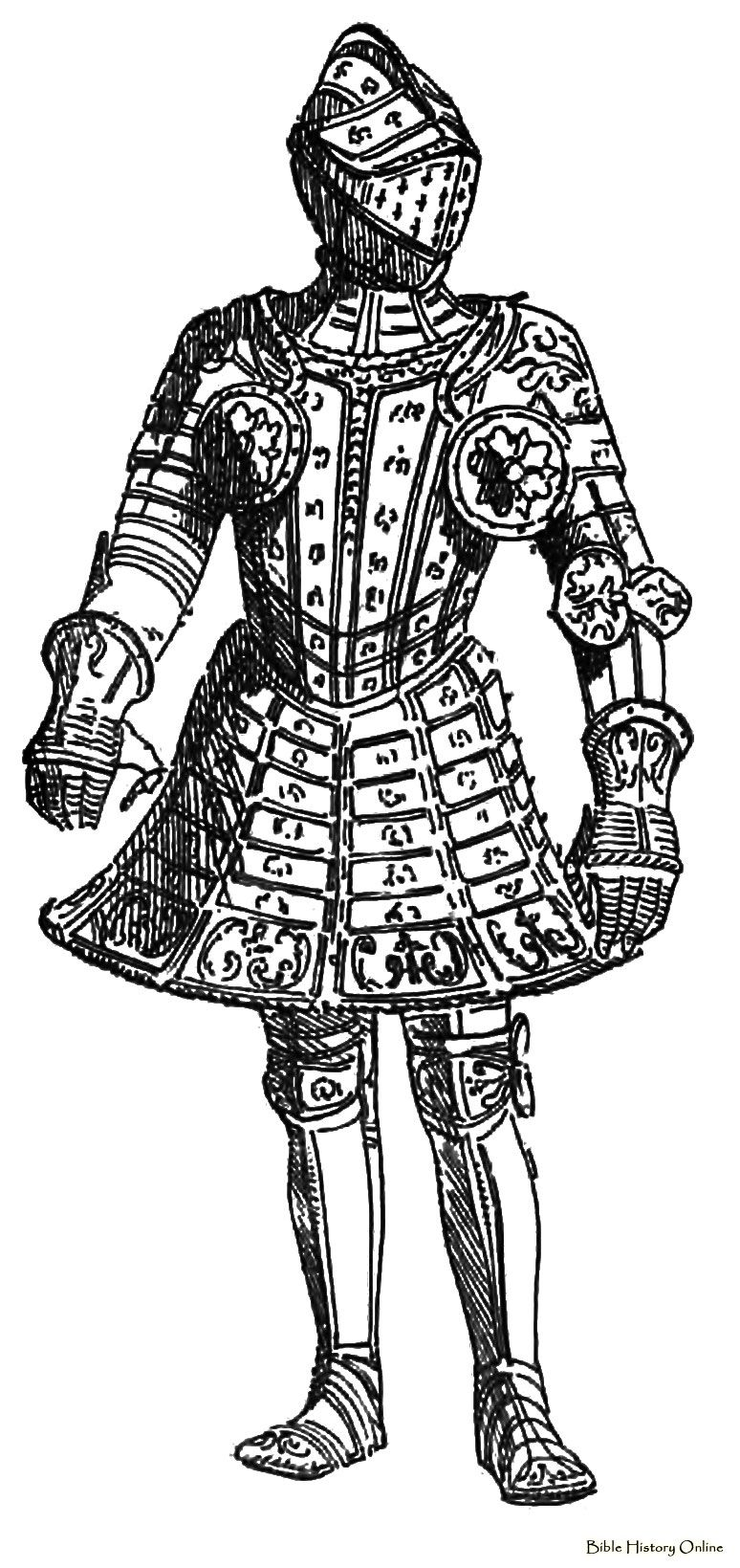 German Skirted Armour | Medieval Knight Arms and armor diagrams ...