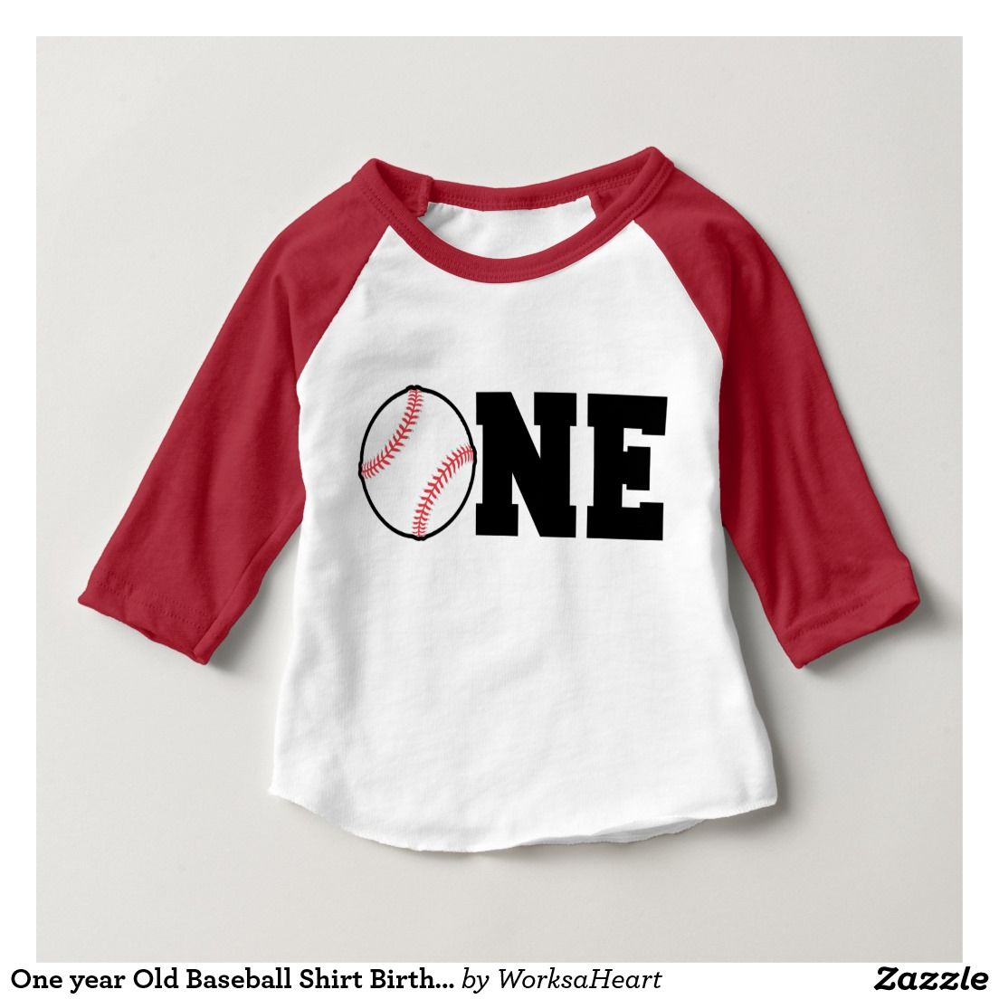 One year Old Baseball Shirt Birthday First