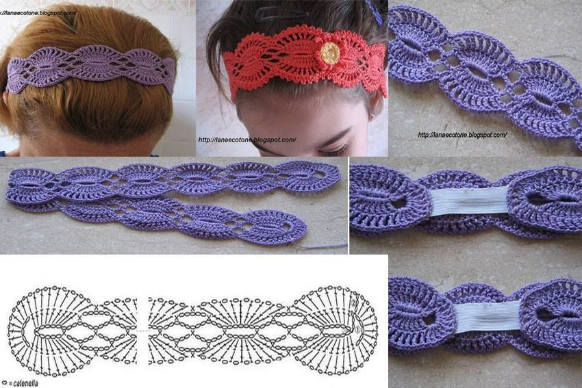 Cintillo Crochet Hair Accessories Crochet Jewelry Crochet Headband