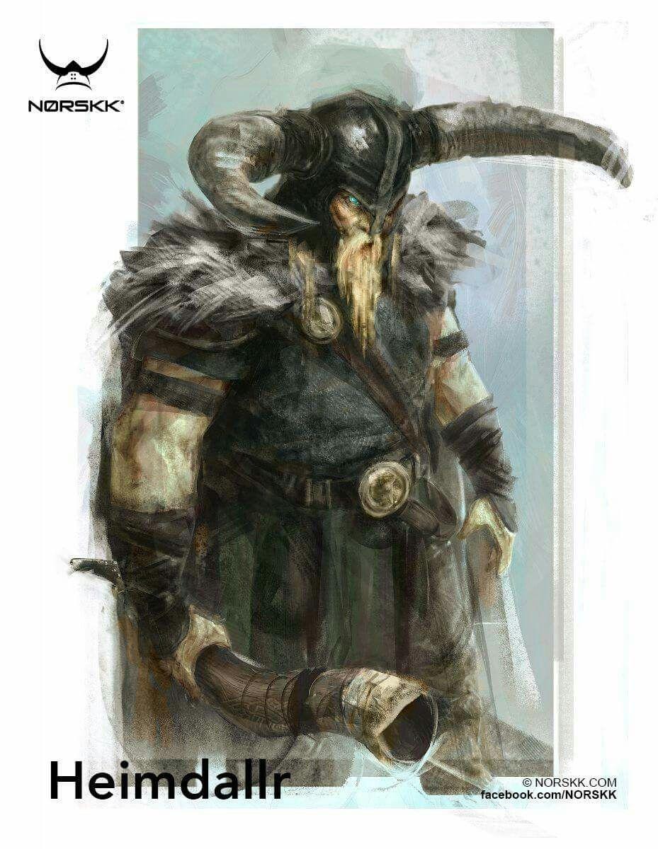 Heimdallr guardian de asgard viking pinterest - Dieu nordique 4 lettres ...