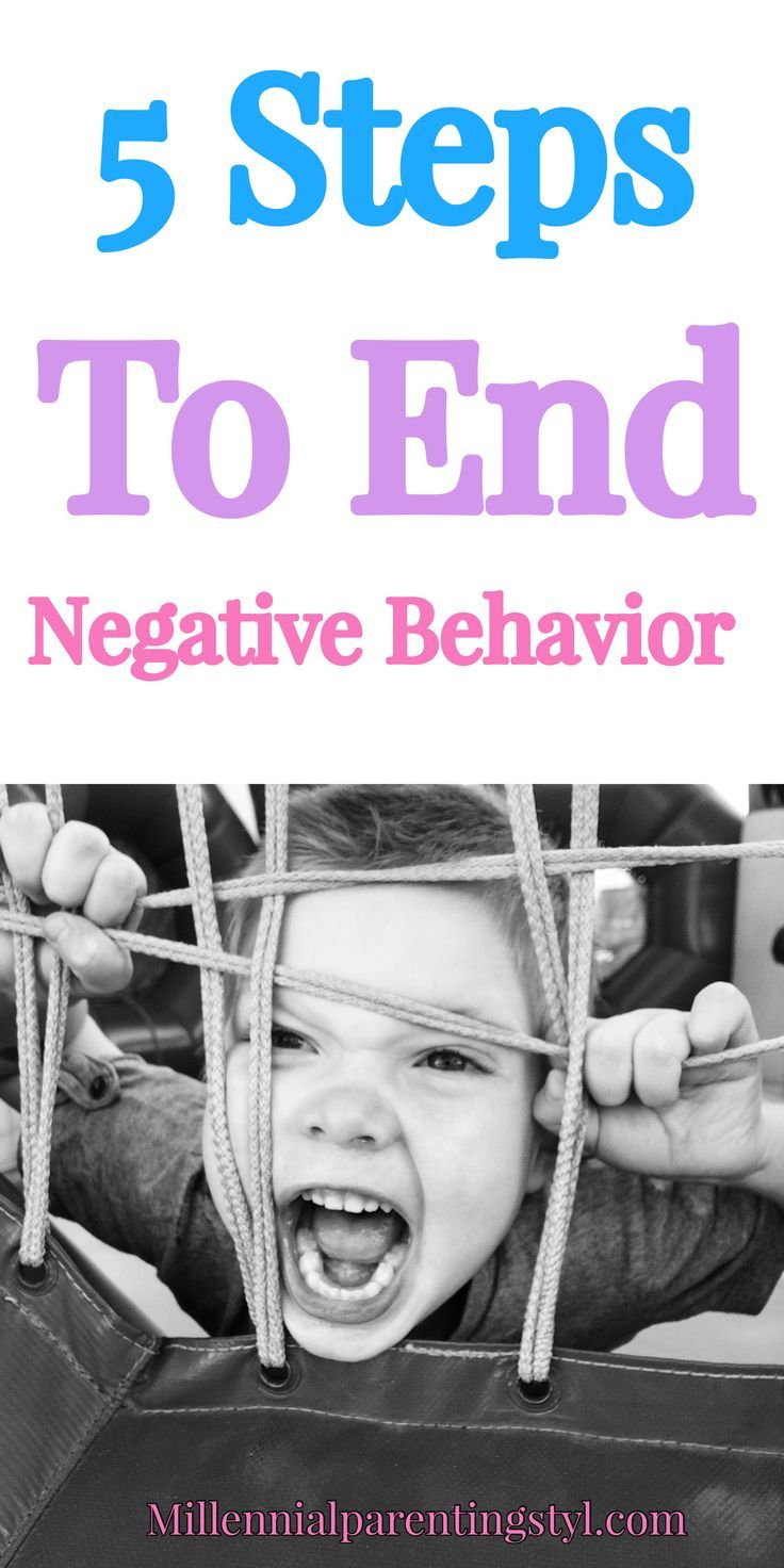 5 Steps To End Negative Behavior. Struggling with a difficult behavior is a big parenting issue. This article will help you to put an immediate end to negative behavior in your household. #kids #parents #discipline #discipline