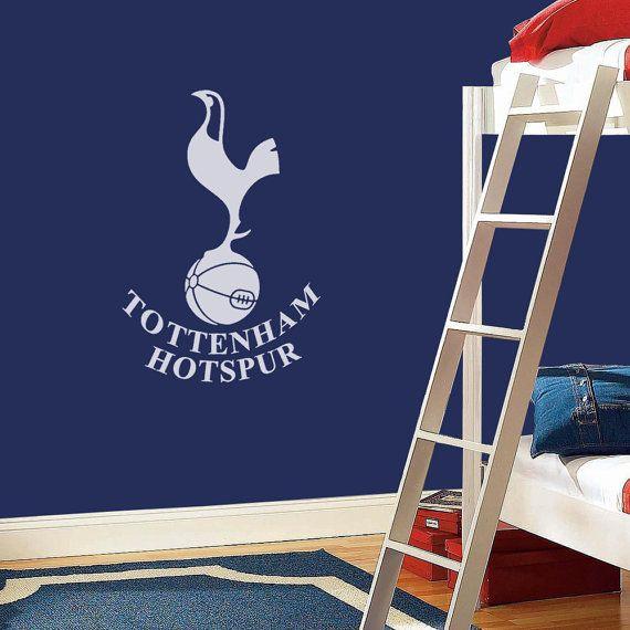 Tottenham hotspur badge wall decal art by wondrouswallart on etsy 26 00
