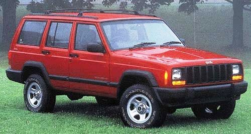 Red Jeep Cherokee Had This Car Before We Got The Tahoe Nice Vehicle Just Too Small For Wheelchairs And Grocer Jeep Cherokee Jeep Cherokee For Sale Red Jeep