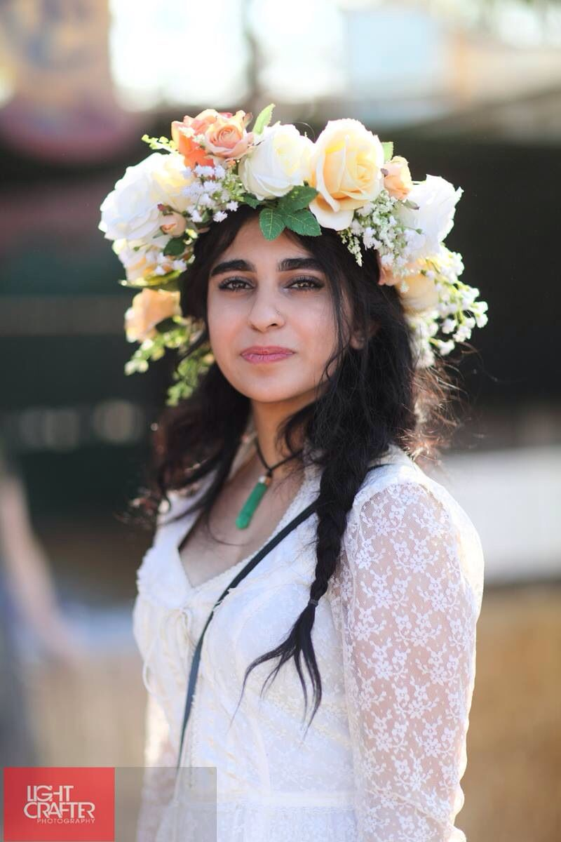 Me At The Renaissance Faire With The Flower Crown I Made