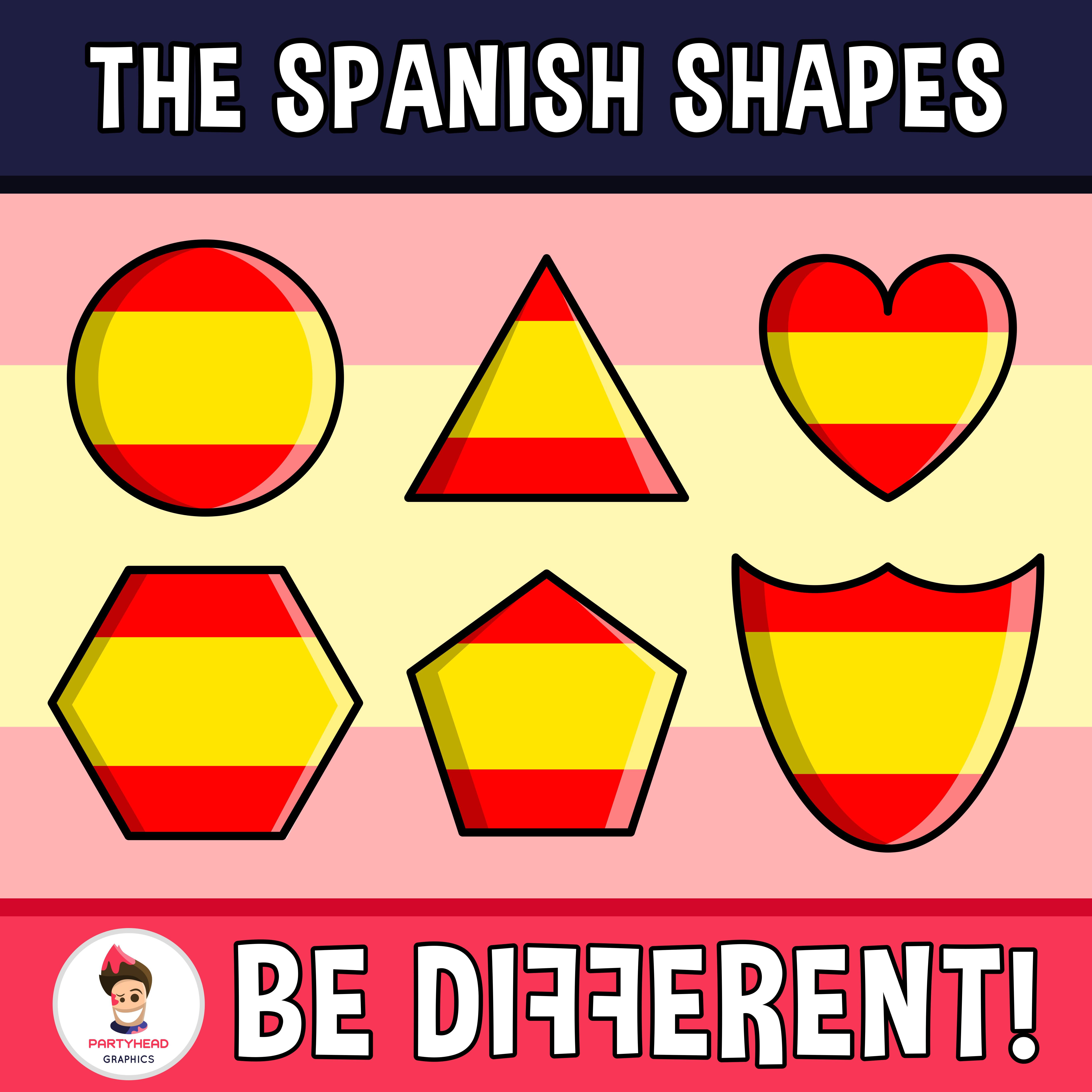 Spanish Shapes Clipart