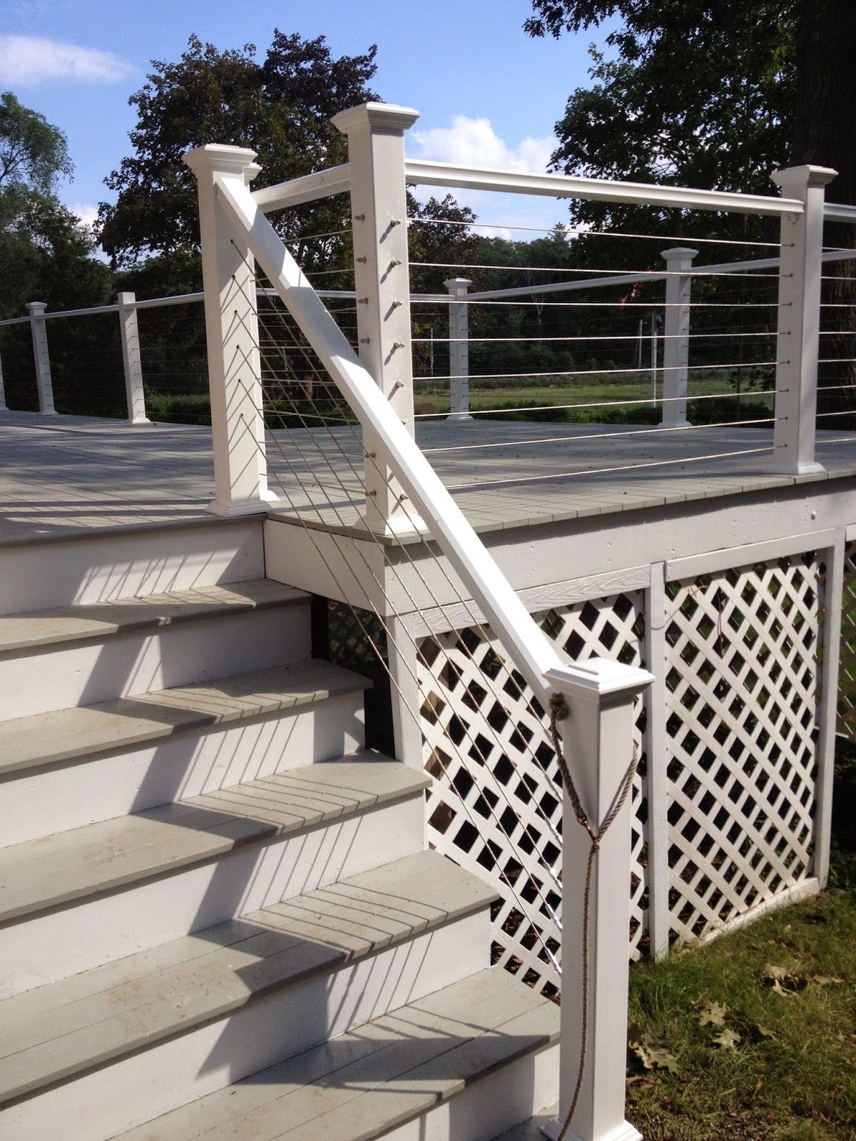 Inexpensive PVC sleeves and hand rails with a more expensive but ...