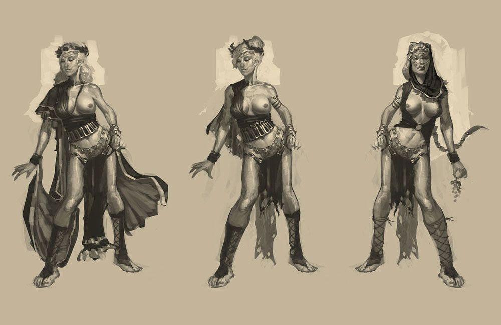 Poseidon Concubines | God of War III Art & Pictures ...
