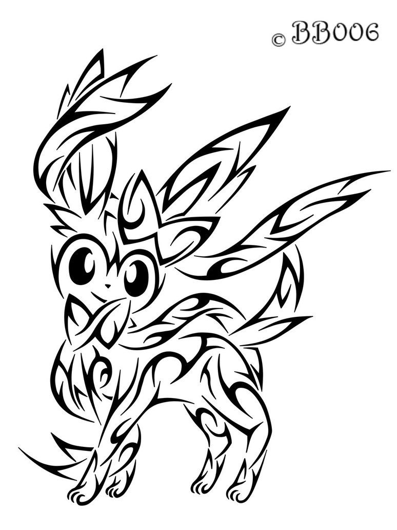 Image Result For Pokemon Sylveon Coloring Pages Tribal Pokemon