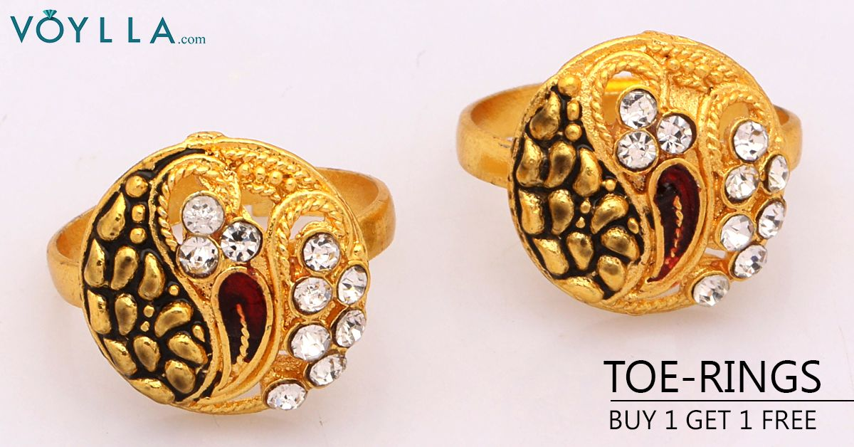 Eye catching Designer Toe Rings With Round Design & CZ PRODUCT
