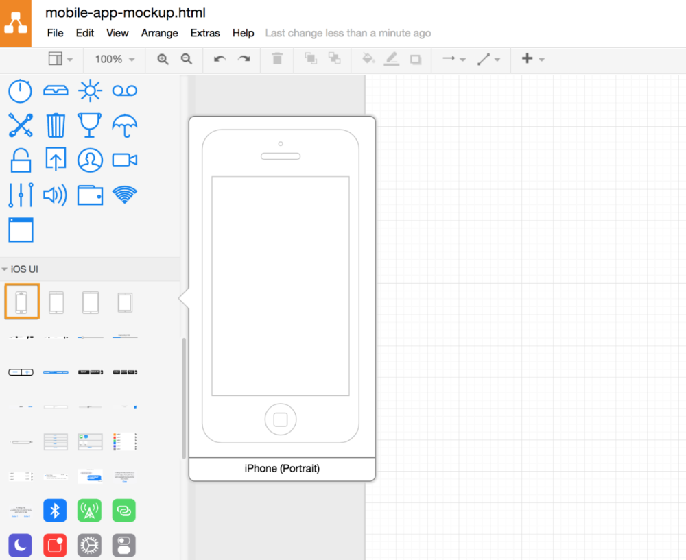 Use Draw Io To Mockup Your Mobile Apps Draw Io Mobile App Mobile App Interface App