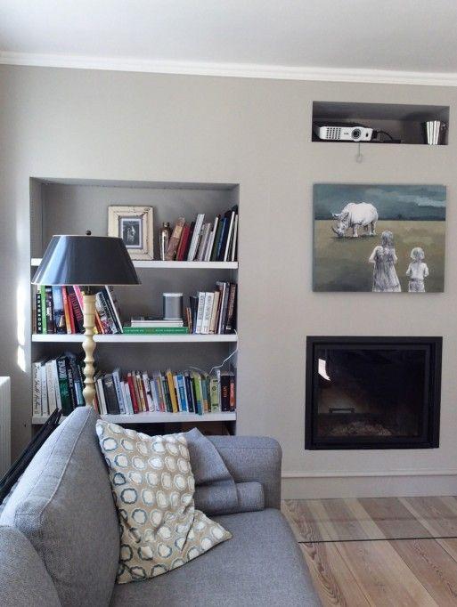 Lascaux 093 - Kreide Emulsion - Kreidefarbe - grau-beige Wand und