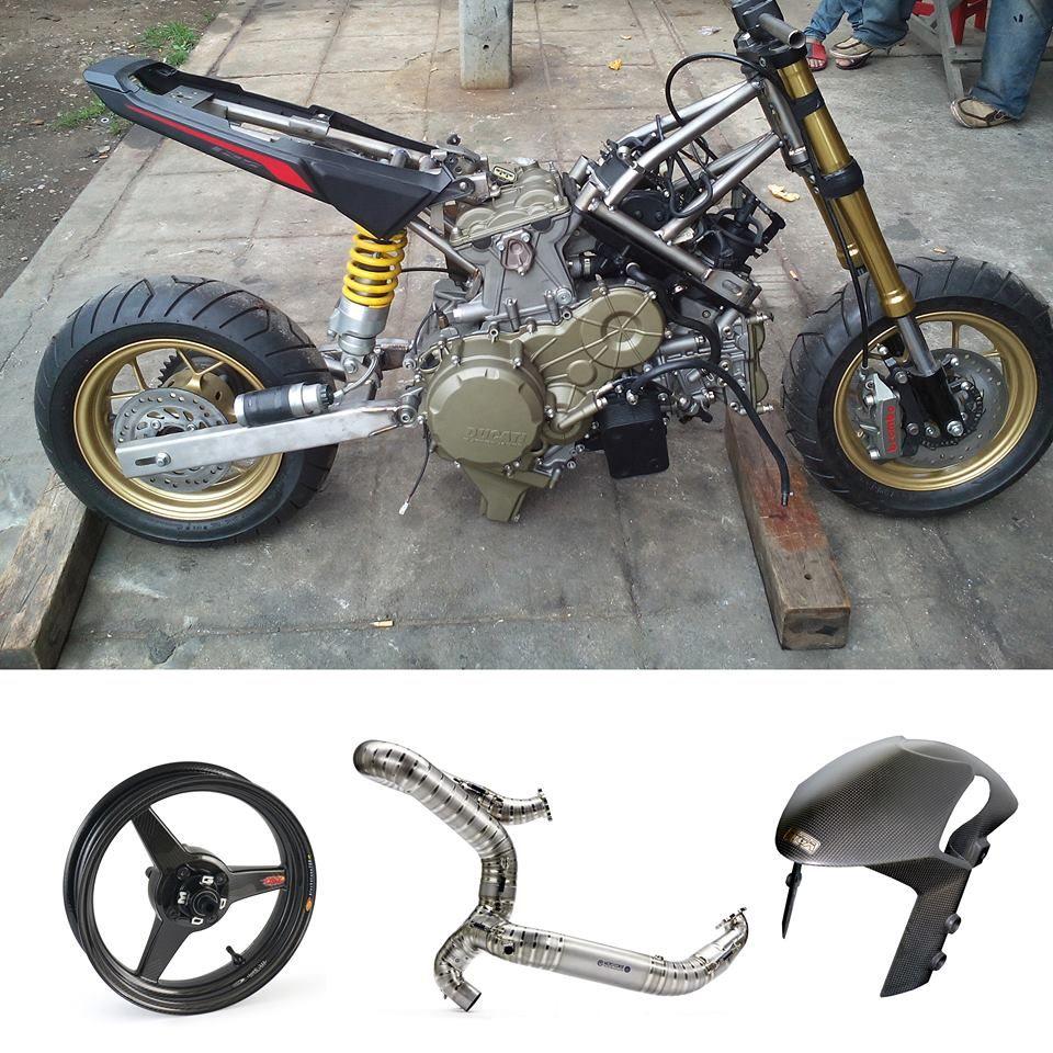 Honda Grom Msx 125 Ducati Panigale 1199 Engine Swap Sport Bike