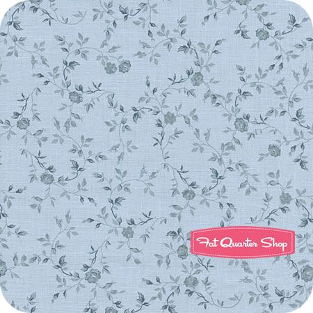 Chambray Rose Blue Wild Roses Yardage Sku Cham 645b Fabric
