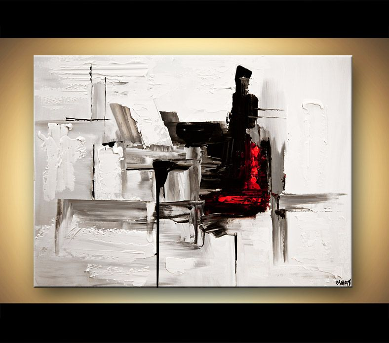 Abstract art by osnat tzadok art pinterest paintings for Abstract painting on black canvas