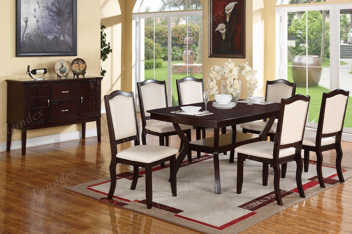 Sala Sedie ~ Poundex arm chair & dining chair f1358 2piece sedie per la
